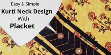 Simple & Easy Kurti Neck Design with Placket /Beginners/DIY 8