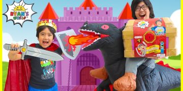 King Ryan vs Powerful Dragon Daddy for the Mystery Treasure Chest!! 3