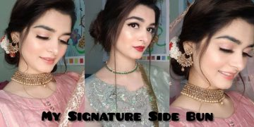 My Signature Side Bun Tutorial || Elegant Hairstyle 6