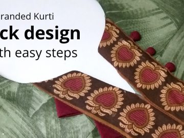 Easy Kurti Neck Design with Placket / Beginners / cutting and stitching 5