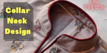 Collar Kurti Front Neck Design Cutting and Stitching || Collar Neck Design 6