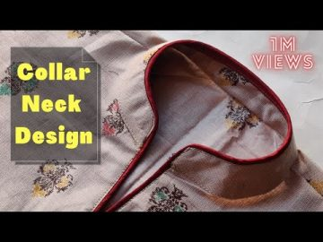 Collar Kurti Front Neck Design Cutting and Stitching || Collar Neck Design 15