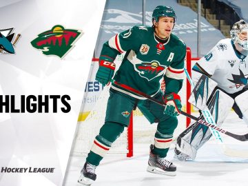 Sharks @ Wild 1/22/21 | NHL Highlights