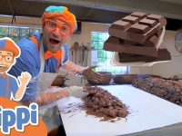 Blippi Visits A Chocolate Factory | Educational Videos For Kids 23