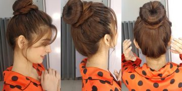Round Hair Bun || 2 Minutes Quick Hairstyle || Trendy Hairstyle For Summers 5