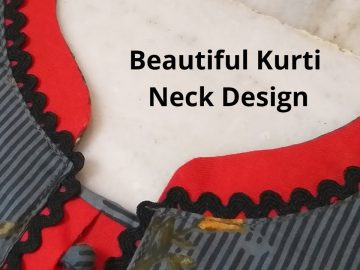 Beautiful Kurti Front Neck Design Easy Cutting and Stitching/Potli Buttons/Placket 10