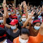 Myanmar coup: Internet shutdown as crowds protest against military 3