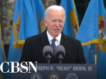 Biden bids emotional farewell to Delaware before leaving for inauguration