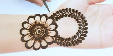 Stylish Mehendi design front hand - simple and easy Mehandi ka design new style henna design 4