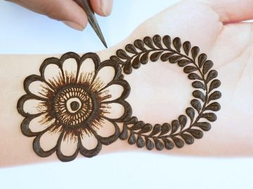 Stylish Mehendi design front hand - simple and easy Mehandi ka design new style henna design 5