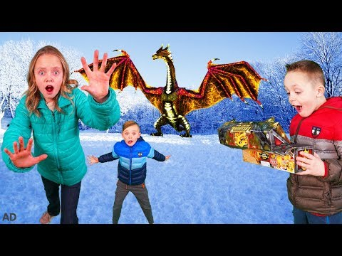 How to Train Your Dragon and Find Gold Treasure in the Hidden World In Real Life! 1
