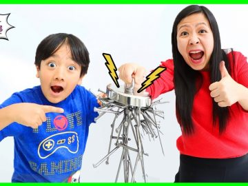 Learn about Magnets and Magnetism for kids! Educational Video with Ryan's World! 10