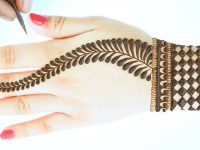 Very easy back hand mehndi-back hand Arabic mehndi design-सबसे आसान अरेबिक मेहंदी Just Mehndi 15