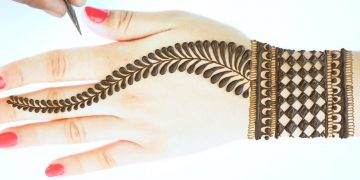 Very easy back hand mehndi-back hand Arabic mehndi design-सबसे आसान अरेबिक मेहंदी Just Mehndi 3