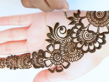 Beautiful Arabic henna mehndi design || simple mehndi design || latest henna design for front hands 14