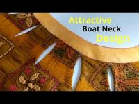 Stylish Boat Neck Design With Keyhole Easy Cutting and Stitching || New Boat Neck Design 15