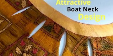 Stylish Boat Neck Design With Keyhole Easy Cutting and Stitching || New Boat Neck Design 7