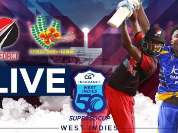 🔴LIVE Trinidad & Tobago vs Barbados | CG Insurance Super50 Cup 3