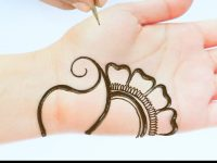Beautiful Arabic henna mehndi design || simple mehndi design || latest henna design for front hands 8