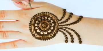 New latest Mehendi design - Simple Henna designs - Trick Back hand mehndi designs 19