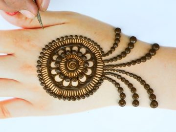 New latest Mehendi design - Simple Henna designs - Trick Back hand mehndi designs 8