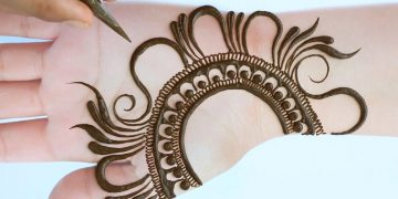 Easy Simple Mehndi design - latest Arabic Mehendi design for front hands - Mehandi ka Design 18
