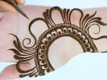 Easy Simple Mehndi design - latest Arabic Mehendi design for front hands - Mehandi ka Design 7