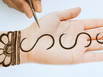 Simple Mehndi design - Easy Stylish Trick Mehndi design for front hands - New mehndi design 2020 20