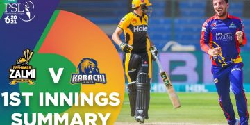 1st Innings Summary | Peshawar Zalmi vs Karachi Kings | Match 13 | HBL PSL 6 | MG2T