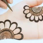 Mehndi designs easy and simple step by step - Arabic easy mehndi design for front hands 3