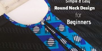 Very Easy Round Neck Design / Cutting and Stitching /DIY 12