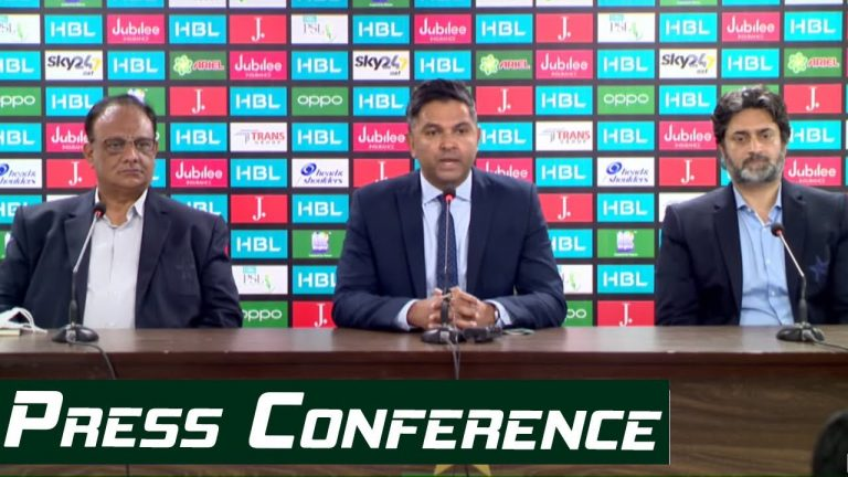 LIVE - CEO Wasim Khan And Director Commercial Babar Hamid Press Conference In Karachi