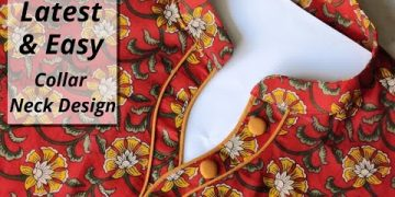 Collar Kurti Front Neck Design with Placket Cutting and Stitching(40)Collar Neck Design 14