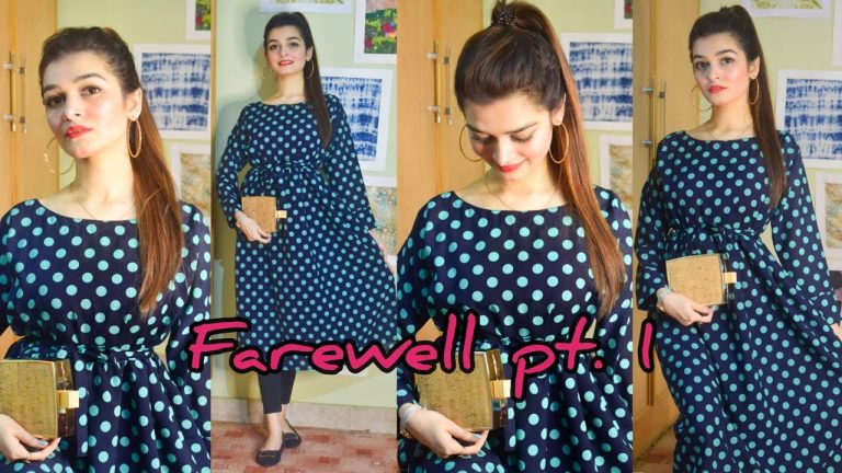 Farewell Ready | Outfit Inspo | High Ponytail | Makeup | Accessories | Affordable prices | GRWM 1