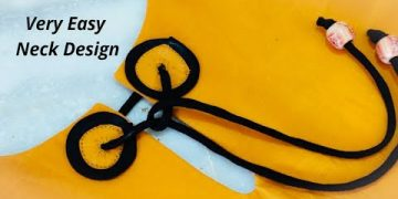 Very Easy and Beautiful Dori Neck Design || Cutting and Stitching 13
