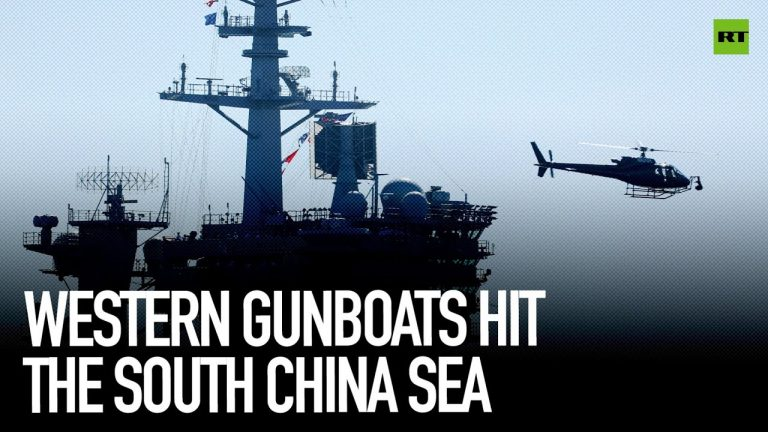 Western gunboats hit the south China sea