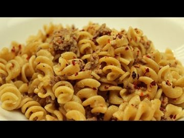 Pasta with Ground Beef Recipe - Easy Turkish Recipes