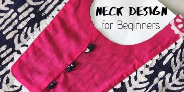 VERY EASY AND SIMPLE NECK DESIGN FOR KURTI /SUIT CUTTING AND STITCHING @CNN Kitchen 18