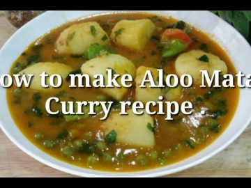 Aloo Matar Curry Recipe by (Cooking with Asifa)