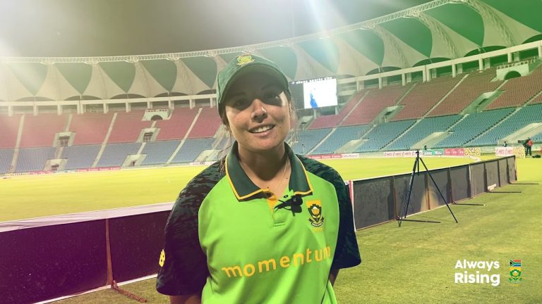 Momentum Proteas captain Sune Luus after the emphatic 8 wicket win over India Women in the 1st T20