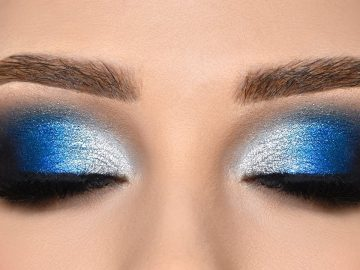 BLUE & SILVER Smokey Eye Makeup Tutorial