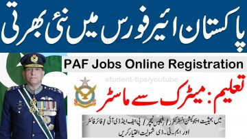 New PAF Jobs 2021, Join paf 2021 online registration ,Pakistan Air force jobs