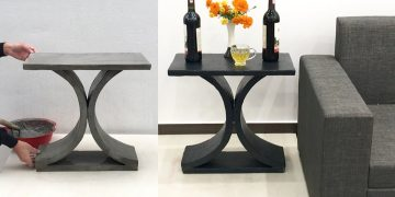 Coffee Table Made With Cement - Craft Ideas For Home Decoration