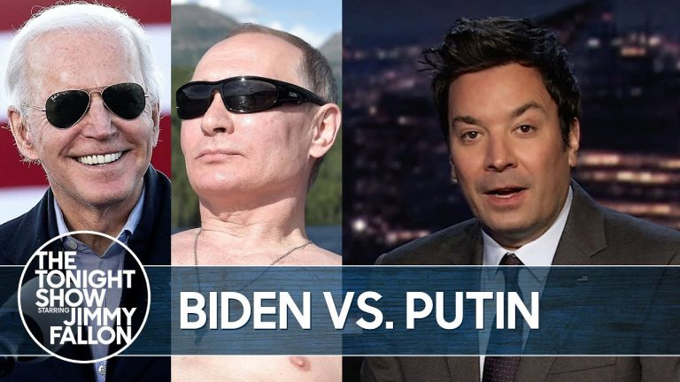 Putin Calls Biden 'Killer' and Invites Him to Chat Publicly | The Tonight Show Starring Jimmy Fallon