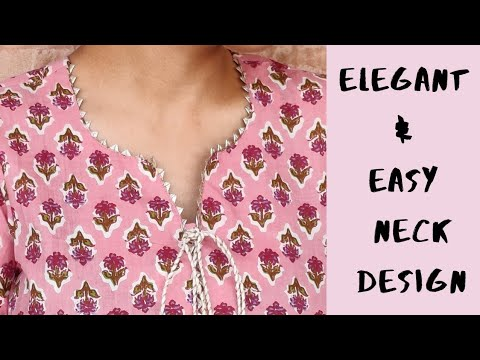 NEW NECK DESIGN FOR KURTI/SUIT EASY CUTTING AND STITCHING    EASY KURTI FRONT NECK DESIGN 1
