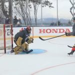 Vegas Golden Knights wired for practice at Lake Tahoe