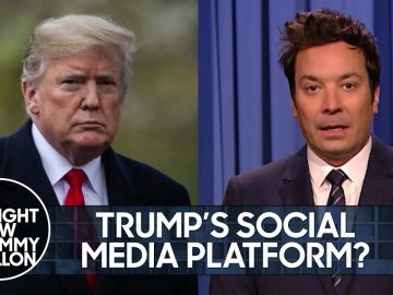 Trump Teases New Social Media Platform and Abandons Private Jet | The Tonight Show