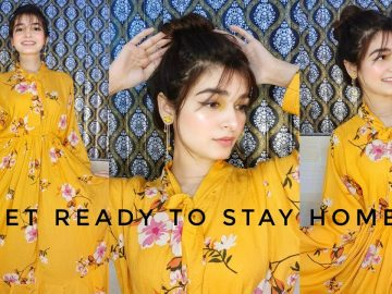 GET READY WITH ME TO STAY HOME || Summer Makeup || Styling 1