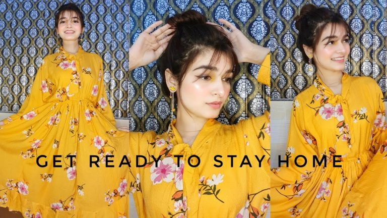 GET READY WITH ME TO STAY HOME    Summer Makeup    Styling 1