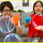 DIY Giant Bubbles with 1 hr TOP easy DIY kids science experiments to do at home!! 3
